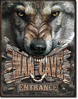 Man Cave Entrance Wolf