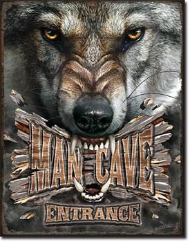 Man Cave Entrance Wolf