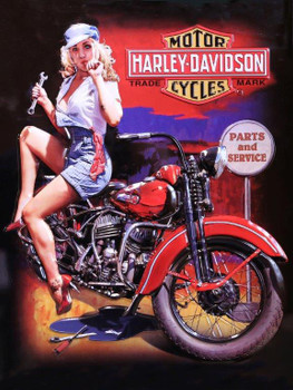 Fixer Up Babe Harley-Davidson Metal Sign