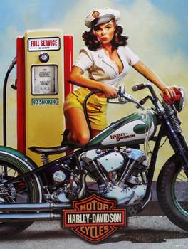 Fill 'er Up Babe Harley-Davidson  Metal Sign