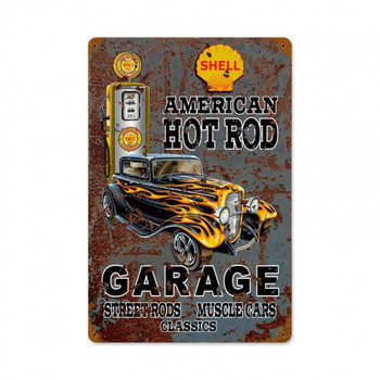 American Hot Rod Garage Shell Gasoline