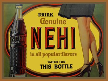 Drink Genuine Nehi Soda Beverages Metal Sign