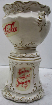 Coca-Cola Ceramic Syrup Urn Pencil Holder circa 1970's