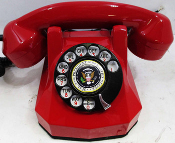 Antique Automatic Electric Red Monophone Telephone AE40 Restored Presidential