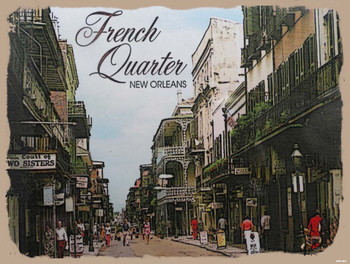 French Quarter New Orleans Metal Sign