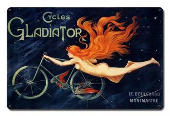 Gladiator Bicycle metal sign