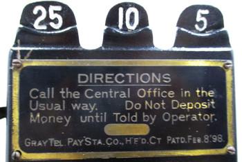 Original Gray Pay Station / Telephone Model 23D Circa 1900's