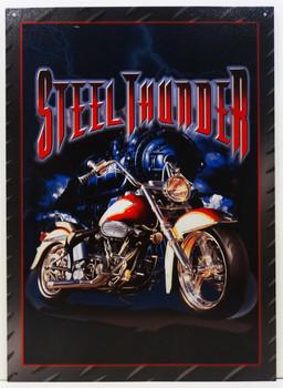 Steel Thunder Metal Sign