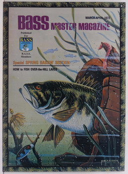 Bass Master Fish in Barrel Metal Sign