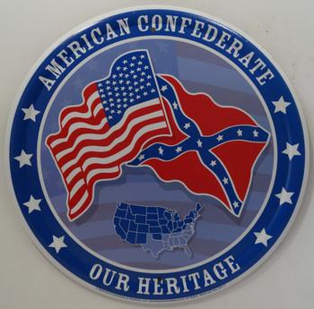 Confederate Round Metal Sign