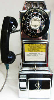 Automatic Electric Chrome Pay Telephone 1950's Fully Restored #1