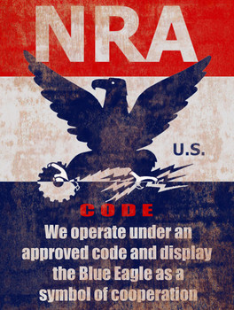 NRA Code Metal Sign