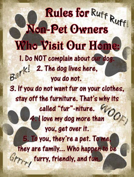Rules for Non-Pet Owners Who Visit Our Home