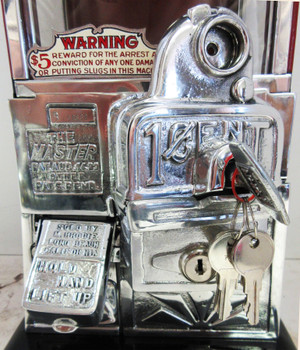Masters Penny Peanut/Candy Machine Red / Black Porcelain Circa 1930's