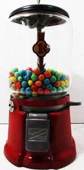 Northwestern Gum Ball Machine Circa 1940's