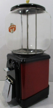 Topper Round Gum 1c Dispenser circa 1940's (red/black)