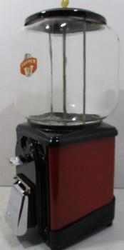 Topper Round Gum 1c Dispenser circa 1940's (red/black)