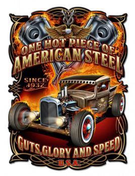 American Steel, the Rat Rod Plasma Cut Metal Sign