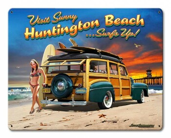 Huntington Beach Surf City USA Metal Sign