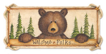 Bear Sign Welcome