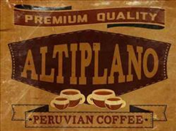 Altiplano Peruvian Coffee Metal Sign