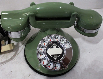 Automatic Electric Round Base Model #40 Circa 1929 Telephone (Mint Green)
