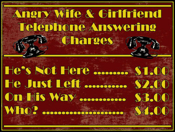 Angry Wife and GF Bar Call Phone Rates