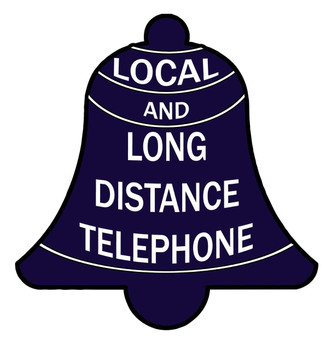 Local and Long Distance Telephone Plasma Cut Metal Sign