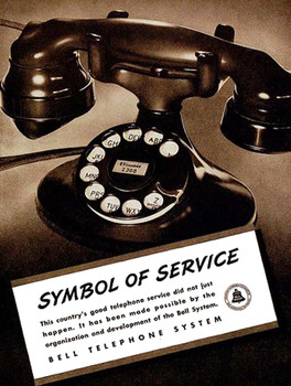 Bell Telephone A Symbol of Service Metal Sign