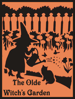 The Olde Witch Garden Metal Sign