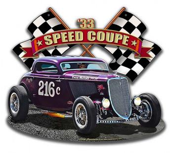 1933 Speed Coupe 216c Plasma Cut Metal Sign