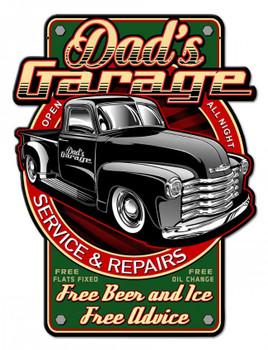 Dad's Garage Service and Repairs Plasma Cut Metal Sign