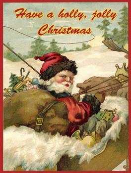 Holly Jolly Vintage Santa Christmas Sign