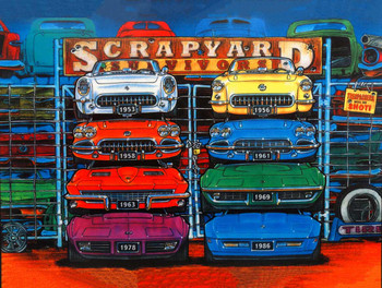 Scrapyard Corvettes