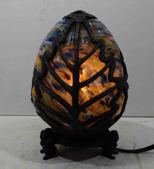 Gothic Multi-Colored Stain Glass Dragon Egg