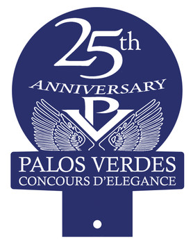 Palos Verdes Concours Event 25th Anniversary License Plate Topper
