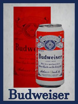 Budweiser Can Advertising Metal Sign