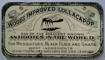 Wood's Improved Lollacapop Antidote Porcelain Sign