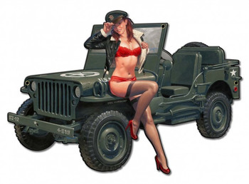 Willys Overland Jeep with Pin Up