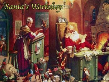 Santa's Workshop/Toy Shop Metal Sign