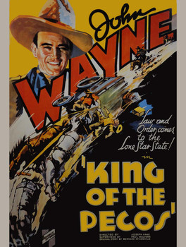 King pf the Pecos Movie Poster Metal Sign