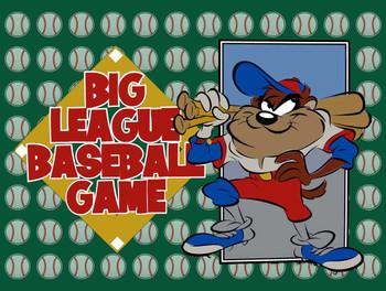 Taz Big League Baseball Game Metal Sign