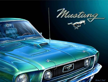 1969 Mustang Fishel Metal Sign