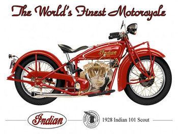 1928 Indian Scout 101 Motorcycle by Terry Pastor