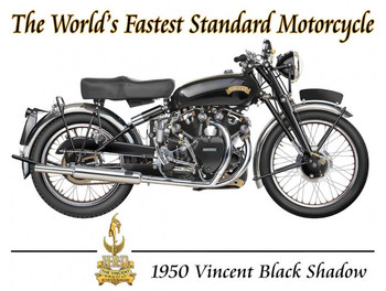 1950 Vincent Black Shadow Motorcycle by Terry Pastor