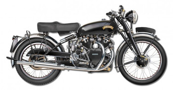 1950 Vincent Black Shadow y Terry Pastor Plasma Cut
