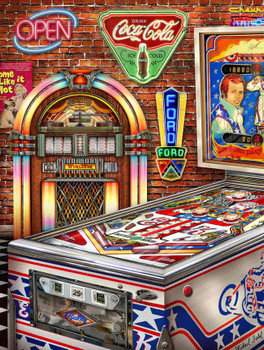 Classic American Pinball Fishel Metal Sign