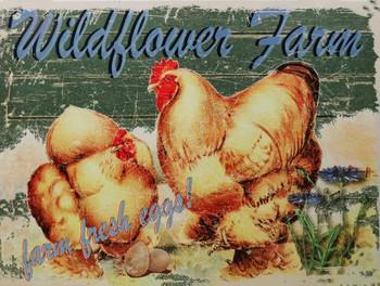 Wildflower Farm Metal Sign