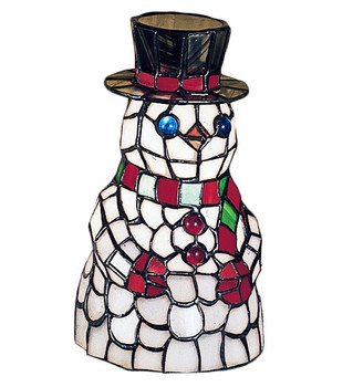 Snowman Stained Glass Lamp 18461 Meyda