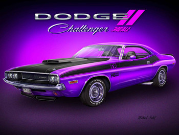 1970 Dodge Challenger Muscle Car Metal Sign